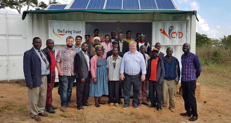 Handover of the SolarBerry to the local community in Choma, Malawi
