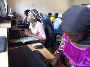 Computer lab in The Gambia