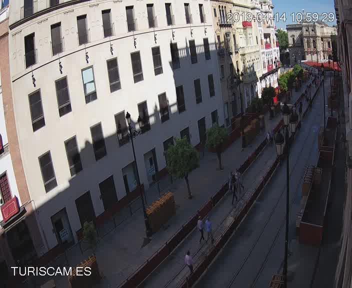 Cámara en directo webcam, Avda. de la Constitución, Sevilla.