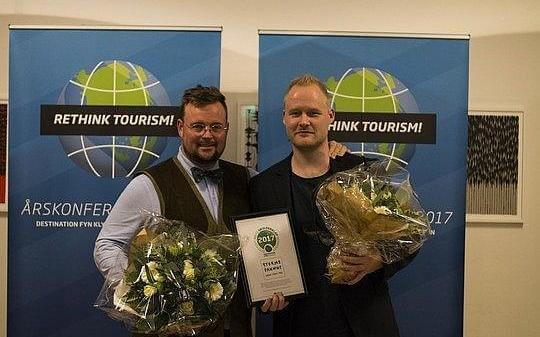 Storms Pakhus i Odense blev vinderen af Årets Skulderklap, der uddeles til en aktør, der har gjort en særlig indsats for turismen på Fyn. (Foto: Udvikling Fyn)