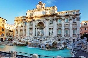 Fontana di Trevi, um dos monumentos da Itália