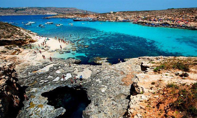 Formação rochosa em Gozo