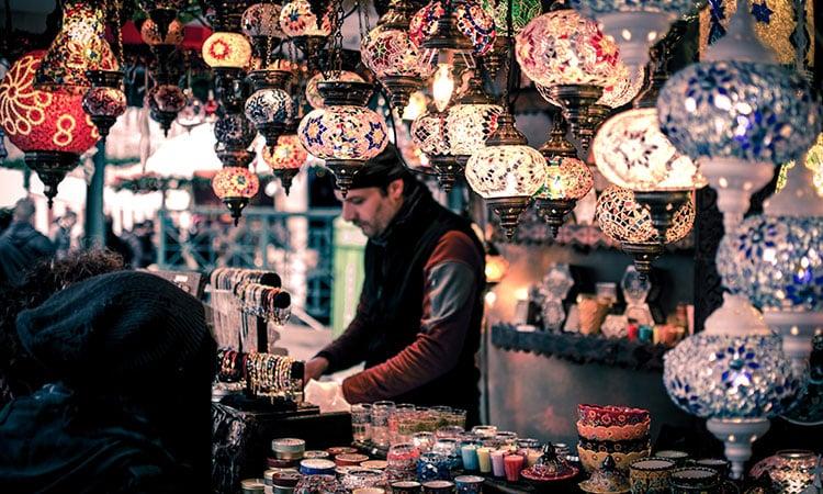 Vendedor em Istanbul