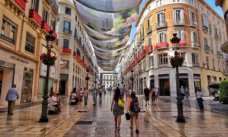 Pontos turísticos de Málaga, na Espanha