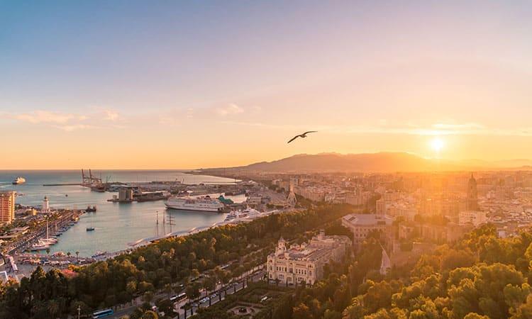 Málaga na Espanha