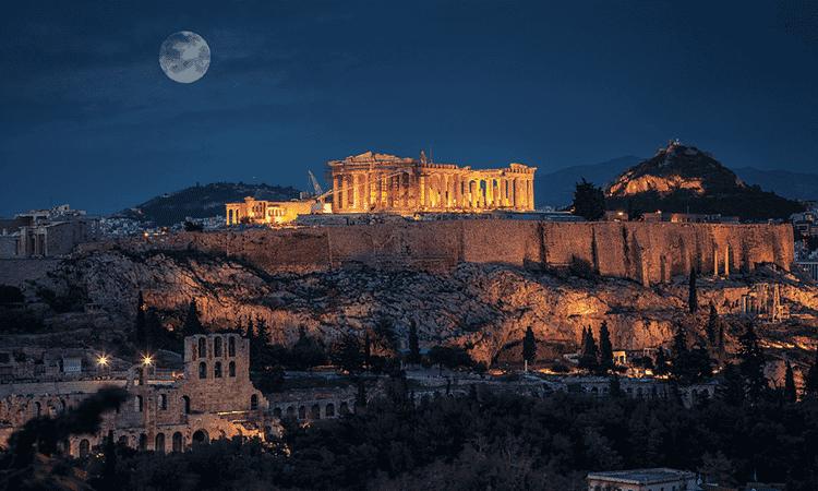 O famoso Partenon, Acrópole de Atenas