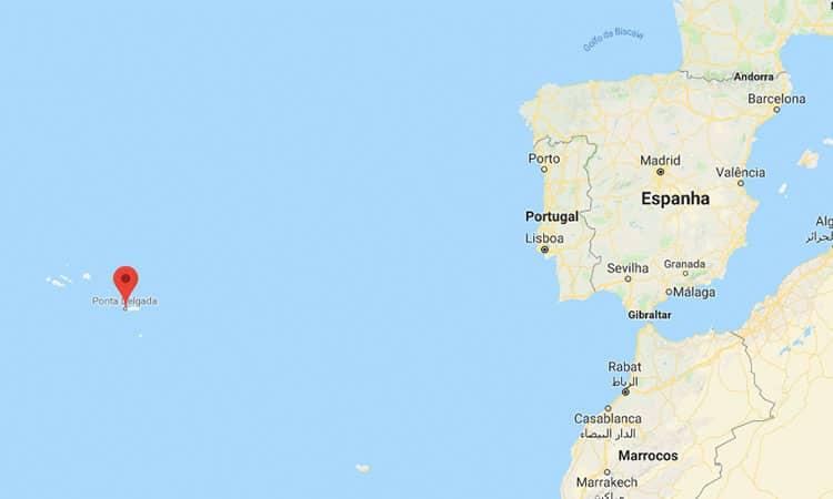 acores mapa