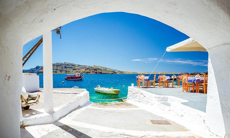 Amoudi Bay na Grécia