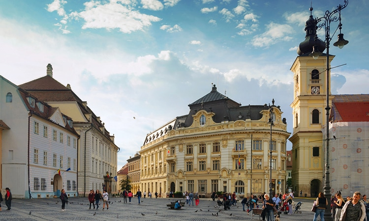 centro histórico de sibiu na romênia