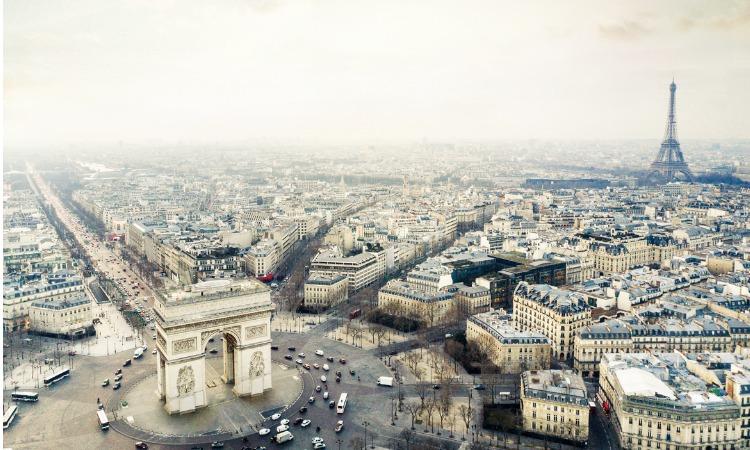 Pontos turísticos de Paris Arco Triunfo