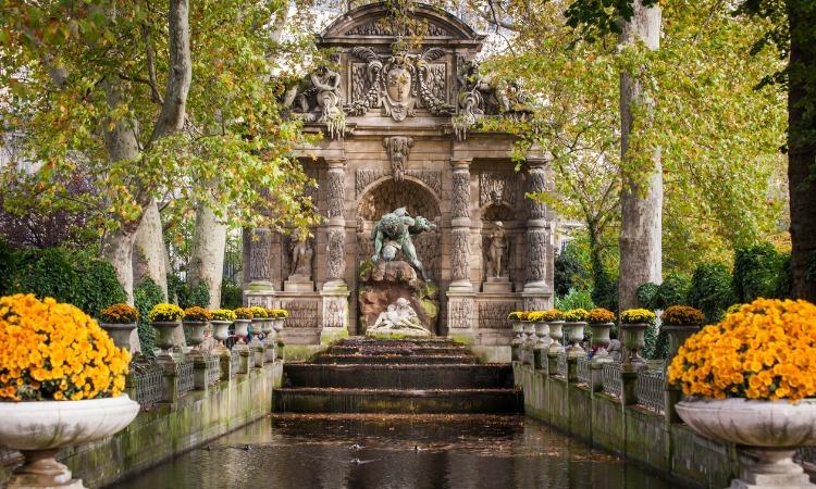 Pontos turísticos de Paris Jardim Luxemburgo