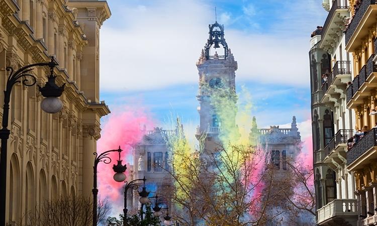 Festas espanholas Las Fallas
