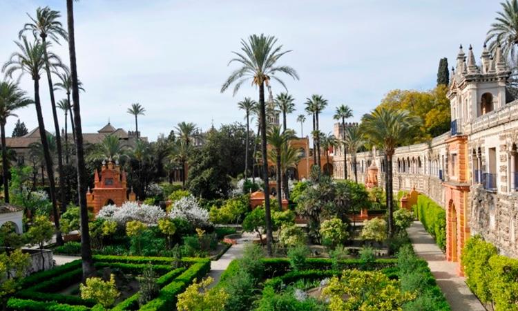 jardins do alcázar de sevilha