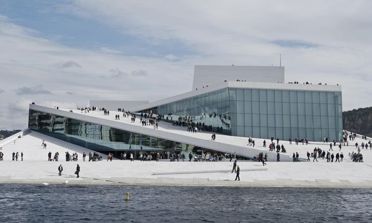 Ópera de Oslo pessoas