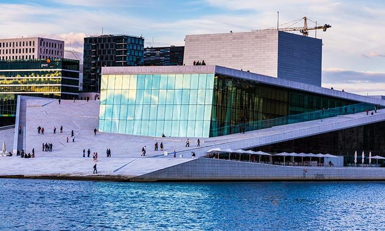 Oslo na Noruega Ópera House
