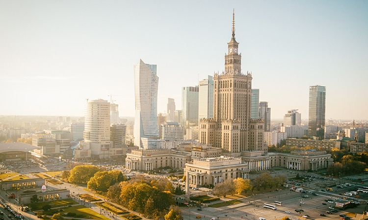 Palácio da Cultura e Ciência Varsóvia
