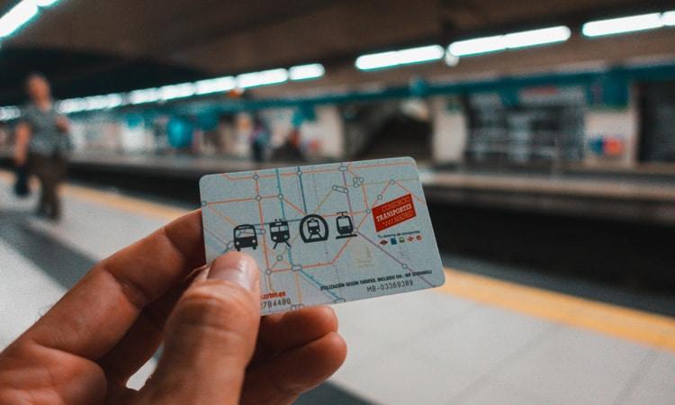 transportes em Madri bilhete