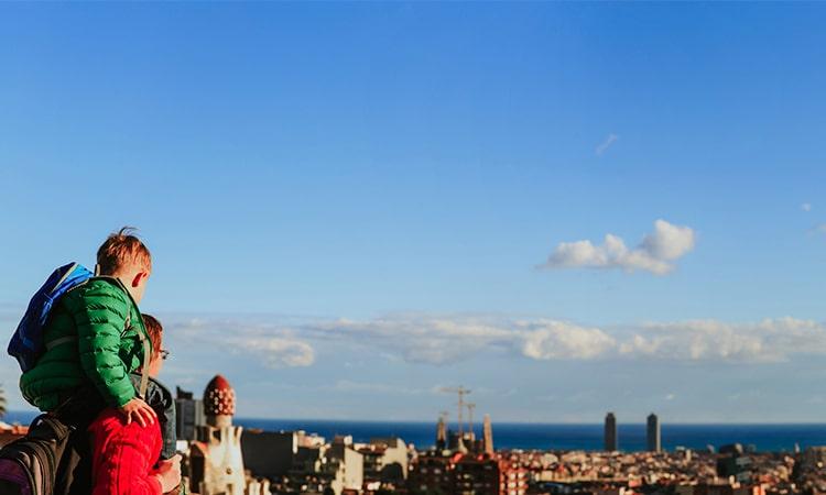 Barcelona com crianças vista