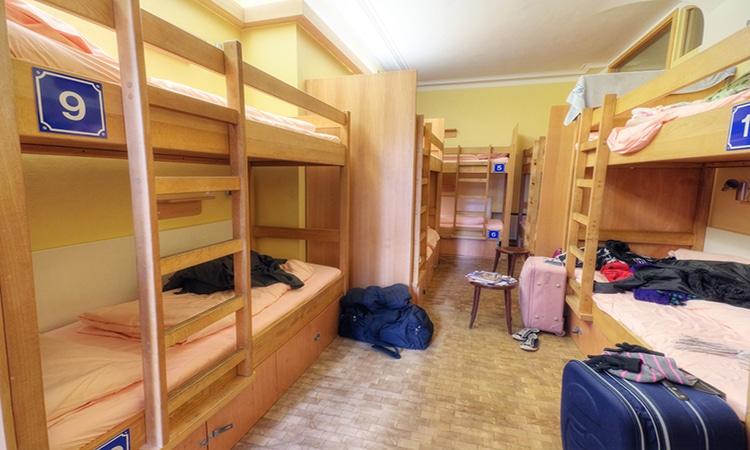 quarto em hostel na europa