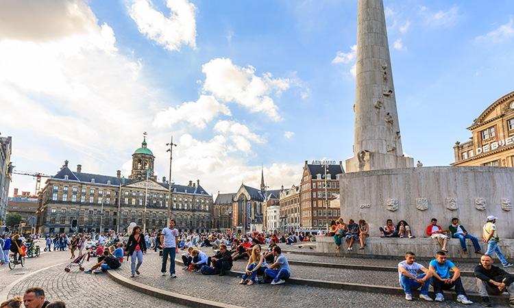 Pontos turísticos de Amsterdam Praça Dam