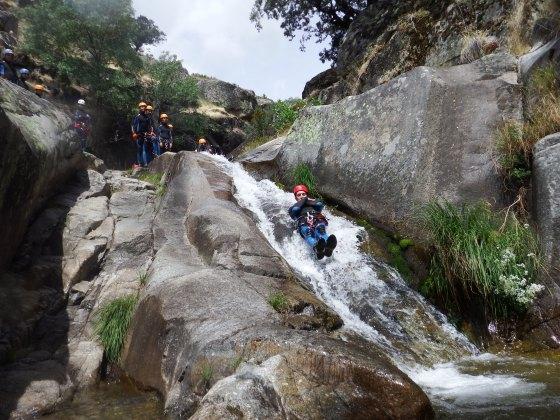 barranquismo con turismo activa, en el valle de Jerte.  (91)