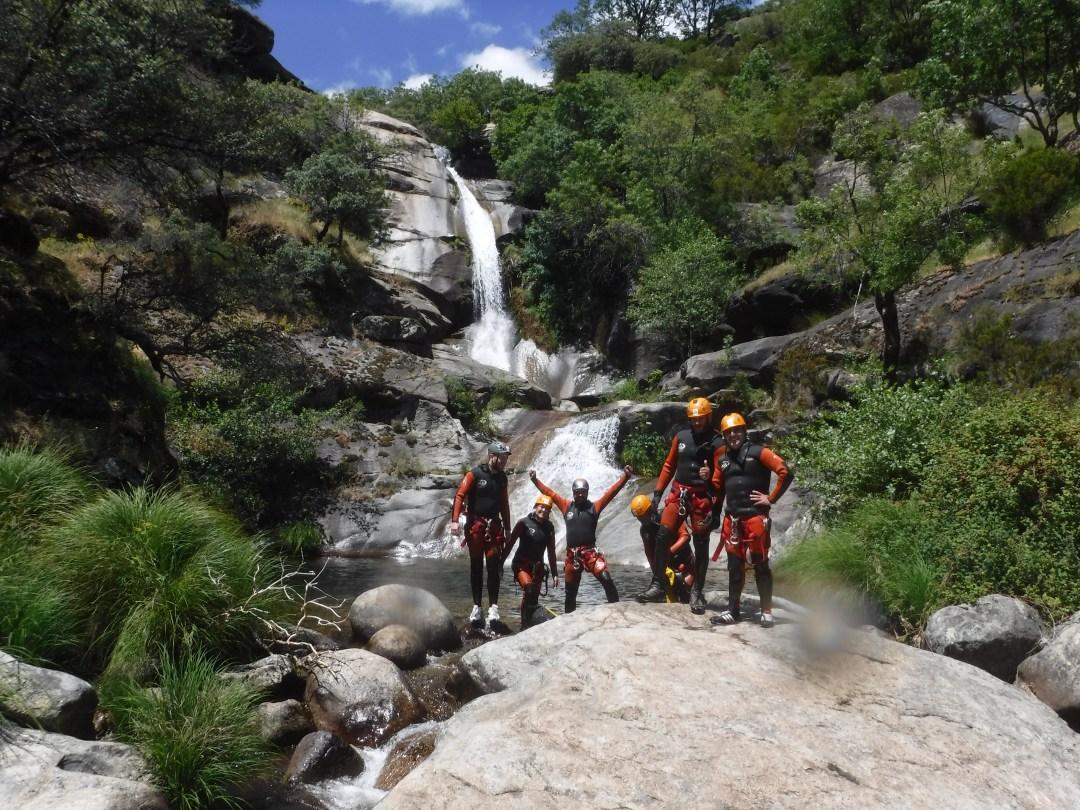 barranco de los papuos,  cascada gigante