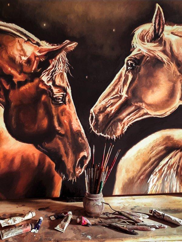 Quadro con cavalli - Sandra Petreni