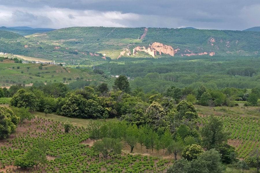 Vista general las Barrancas de Santalla