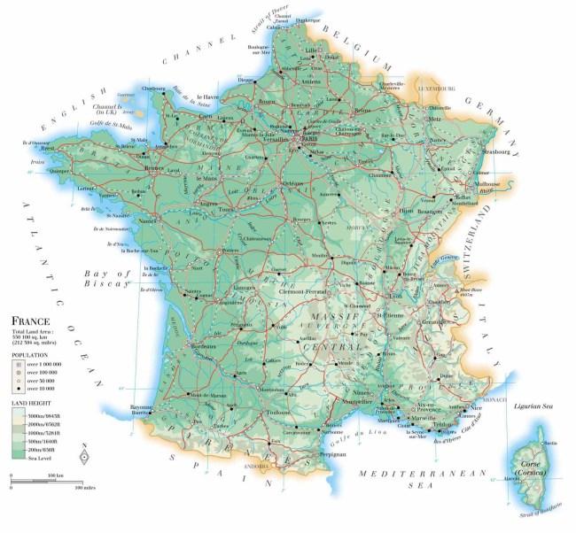 Mapa Caretero de Francia 2