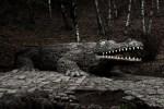 Скульптура крокодила в Кисловодске