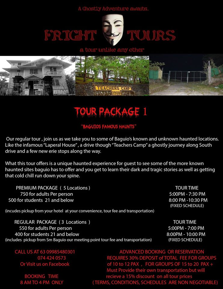 Pine City Fright Tours Package - Baguio | Turista Boy
