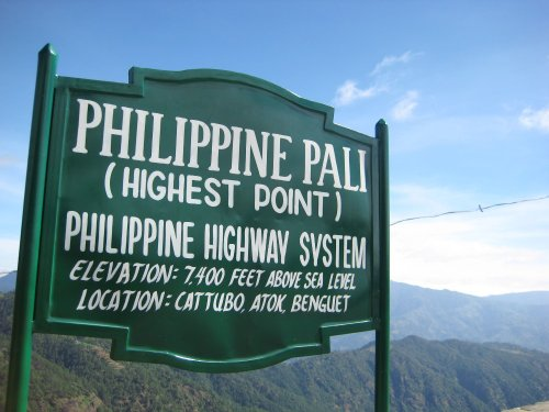 highest point of the philippine highway system