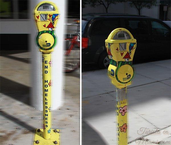 parquímetros amarillos en Miami