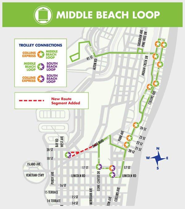 trolley en miami beach, un servicio gratuito - turista en