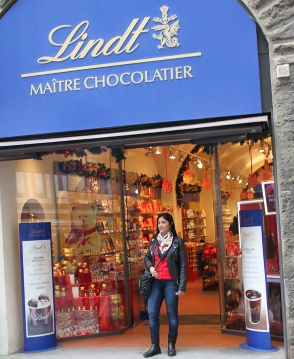 Loja de Chocolates Lindt em Florença