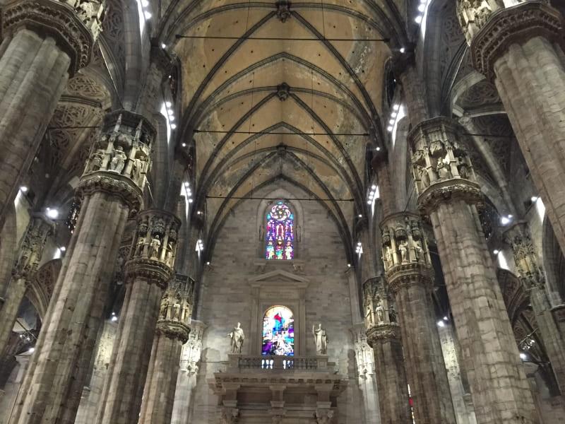 Interior do Duomo de Milão.