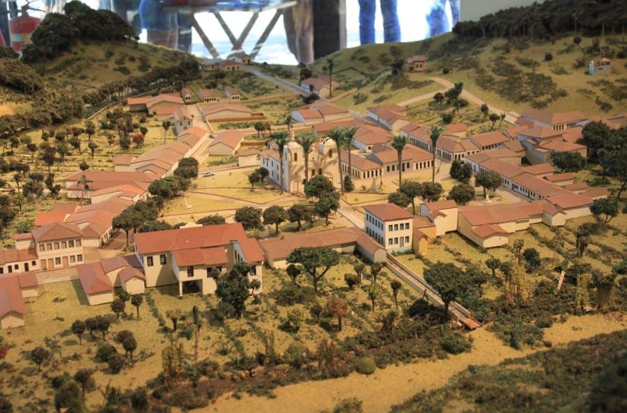 Parque São João Marcos: maquete do complexo.