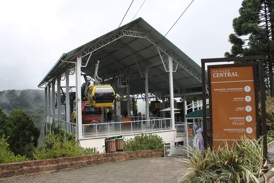 Estação Central dos Bondinhos Aéreos Parques da Serra.