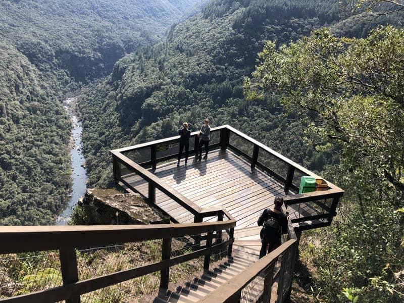 Mirante da Cascata do Arroio Caçador no Parque da Ferradura.