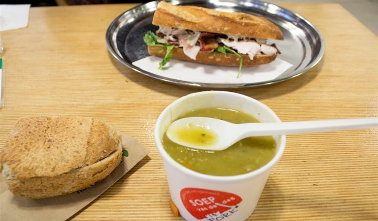 Sandwich and soup at New Fork Rotterdam