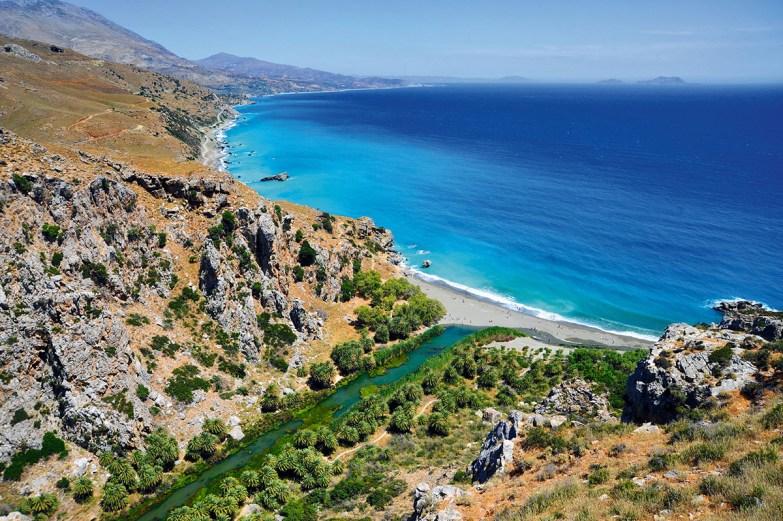 melhores praias da ilha de Creta