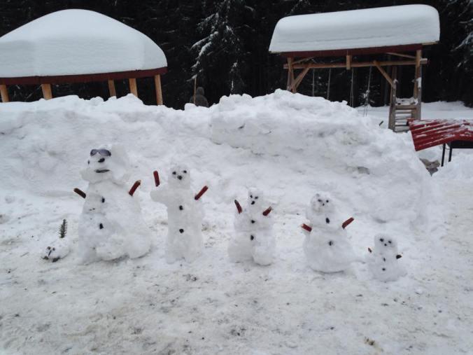 Arieseni, Sovata si Bucin - bucin snowmen