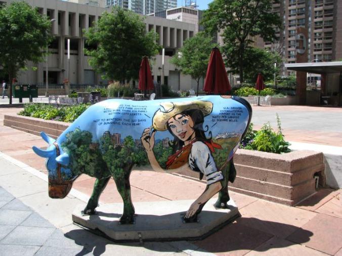 Denver - downtown cow