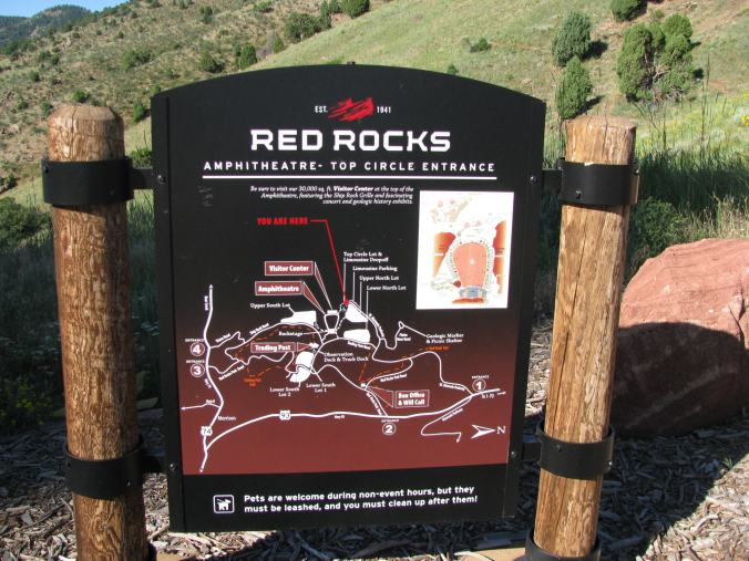 Denver - red rock map