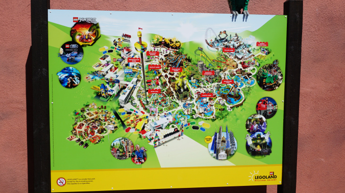 Legoland Danemarca - park map