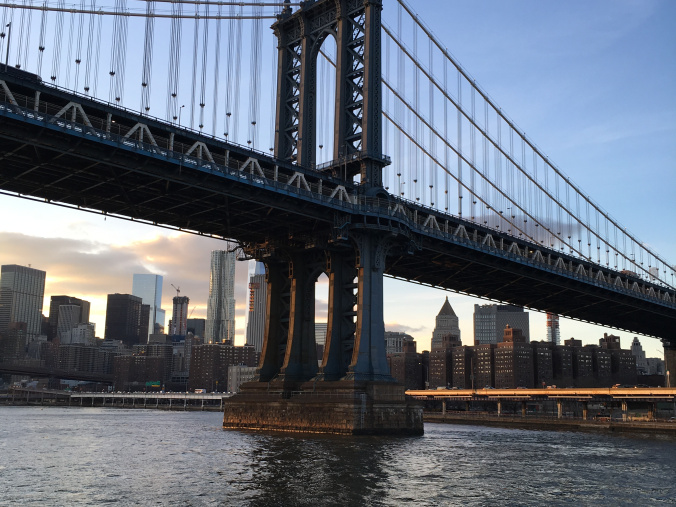 Manhattan - bridge at sunset