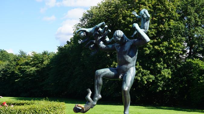 Oslo - vigeland park statue
