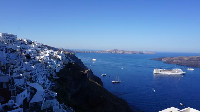 Santorini - fira port