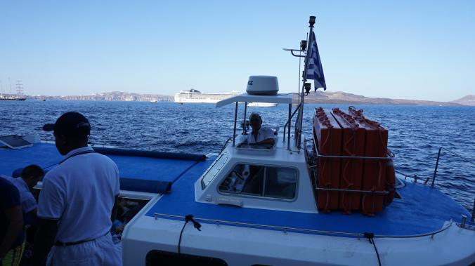Santorini - tender boat