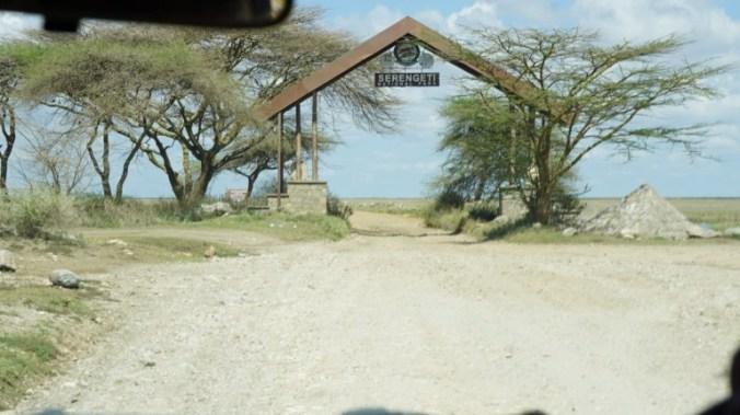 Serengeti - park entrance